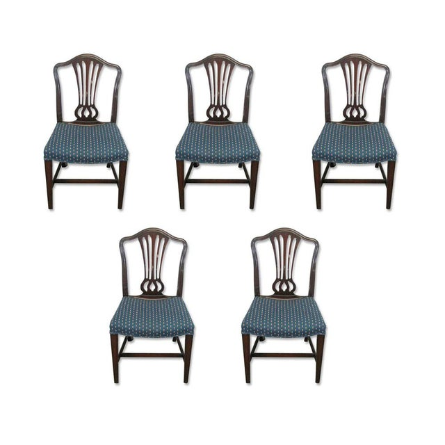 Antique Mahogany Dining Chairs - Set of 5 For Sale - Image 10 of 10