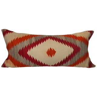 Large Navajo Eye Dazzler Bolster Pillow For Sale