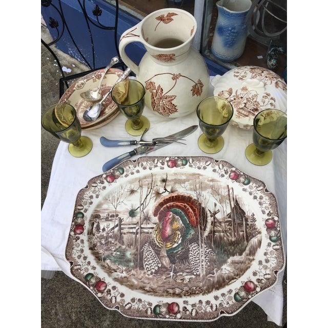 English Transferware Turkey Platter For Sale - Image 9 of 11
