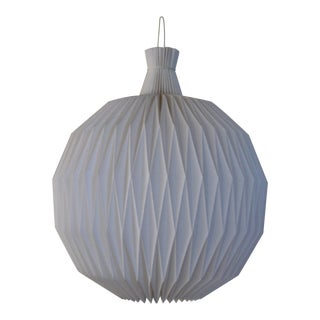 Mid-Century Modern Round Origami Plastic /Paper Chandelier For Sale