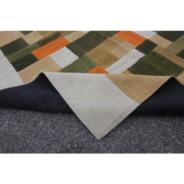 Vintage Turkish Curtain Perde Kilim Patchwork Rug - 2′6″ × 6′1″ - Image 6 of 6