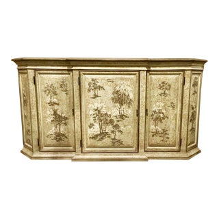 Drexel Heritage Chinoiserie Sage Flanders Console Table/Sideboard For Sale