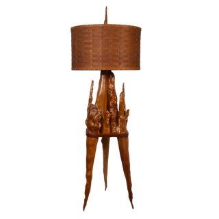 Cypress Knee Floor Lamp For Sale