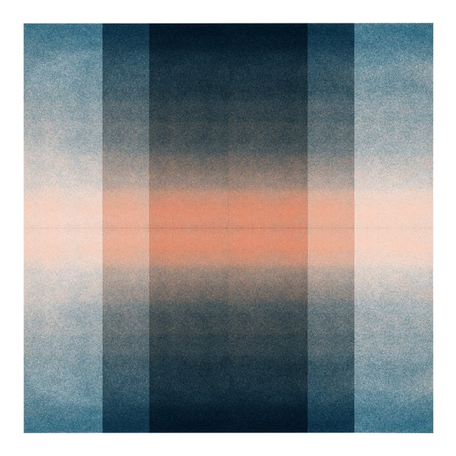 Jessica Poundstone Blush Pink & Midnight Blue [Color Space Series] Print For Sale
