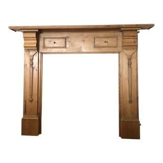 Late 19th Century English Pine Mantel For Sale