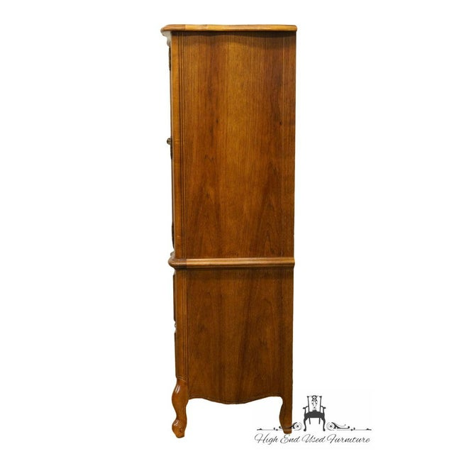 Late 20th Century Vintage Stanley Furniture French Regency Style Armoire For Sale - Image 9 of 13