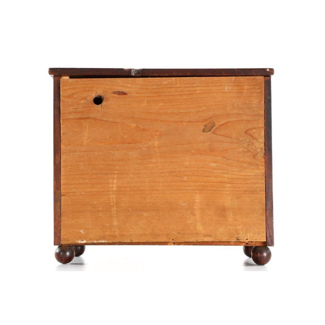 Mahogany Miniature American Federal Spice Box For Sale - Image 7 of 10