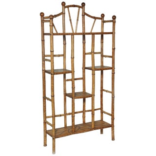 19th Century English Bamboo Etagere