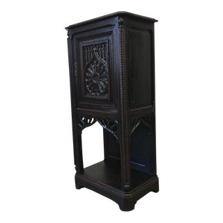 French Antique Gothic Vestry Cabinet Cathedral Furniture For Sale