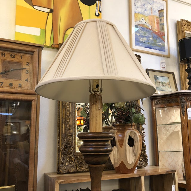 Lathed Vintage Floor Lamp For Sale - Image 4 of 7