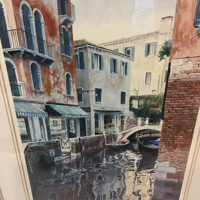 """Venice Scene"" Artist Proof Signed Lithograph For Sale - Image 4 of 10"