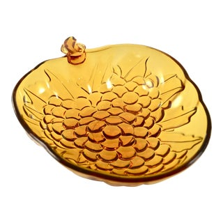 Last Call! Amber Glass Fruit Bowl For Sale