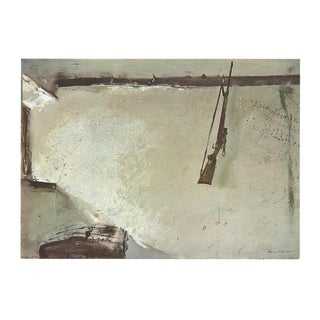 """Andrew Wyeth Karl's Room 14"""" X 16"""" Poster 1970 Gray, Brown For Sale"""
