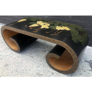 Japanese Red-Crowned Cranes Scroll Coffee Table Preview