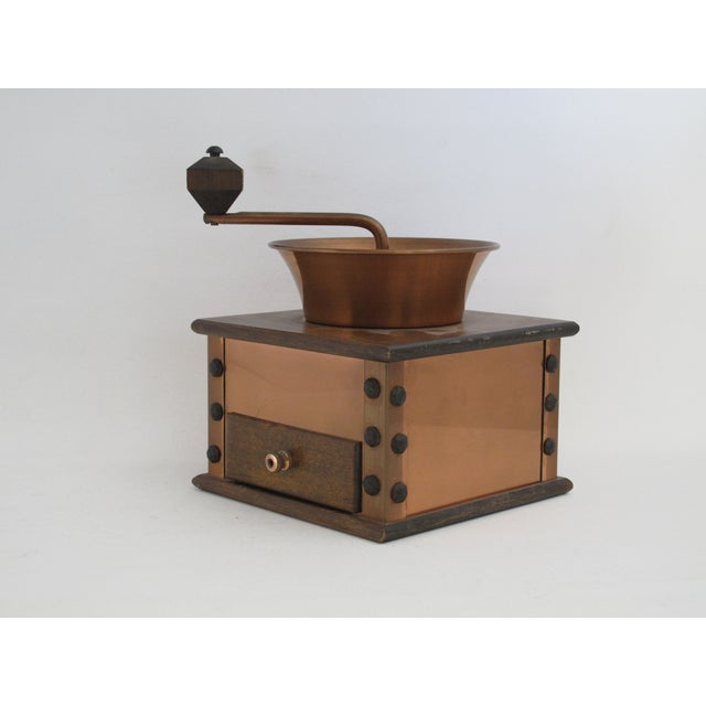 Copper and Walnut Coffee Grinder - Image 6 of 7