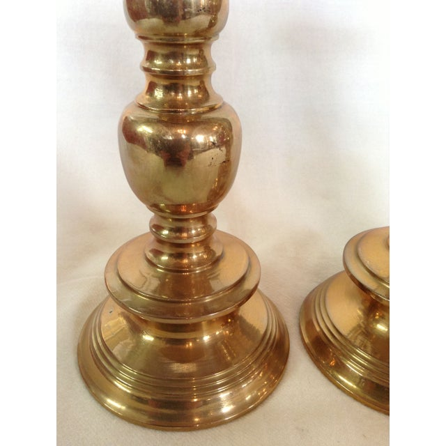 Trio of Tall Brass Candlesticks - Image 6 of 6