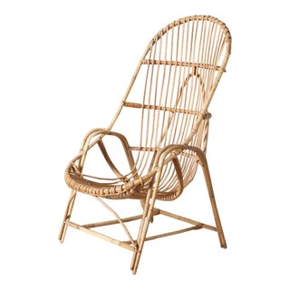 Handwoven Bamboo Chair For Sale