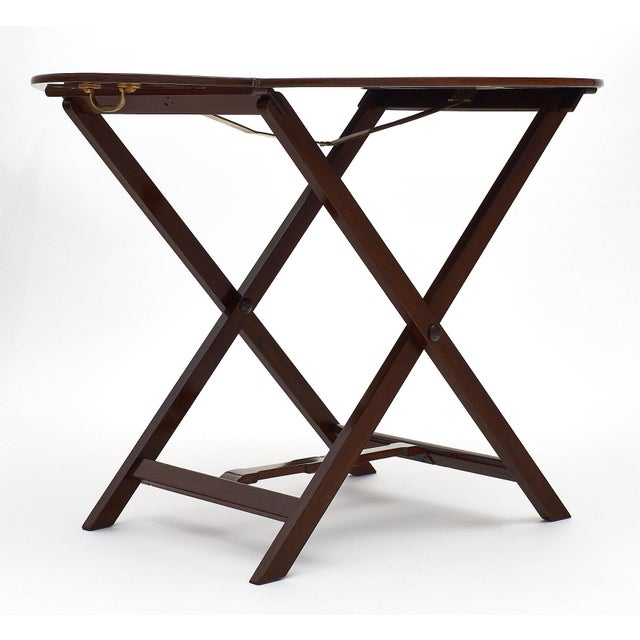 English Campaign Style Mahogany Tray Table For Sale - Image 9 of 10