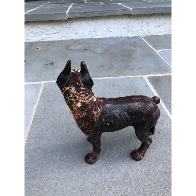 Mid 20th Century Iron Boston Terrier Figurine For Sale - Image 5 of 9