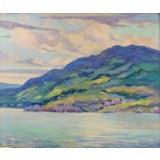 Image of Simon Michael Impressionist Lakeview Painting For Sale