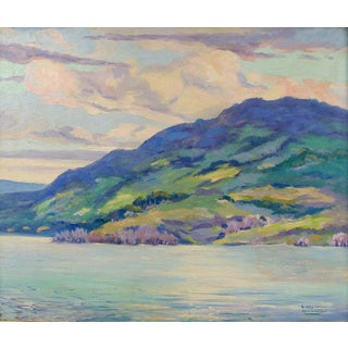 Simon Michael Impressionist Lakeview Painting For Sale