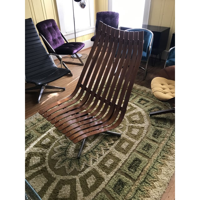 "1950's Vintage Hans Brattrud Teak ""Scandia"" Lounge Chair For Sale In Charlotte - Image 6 of 9"