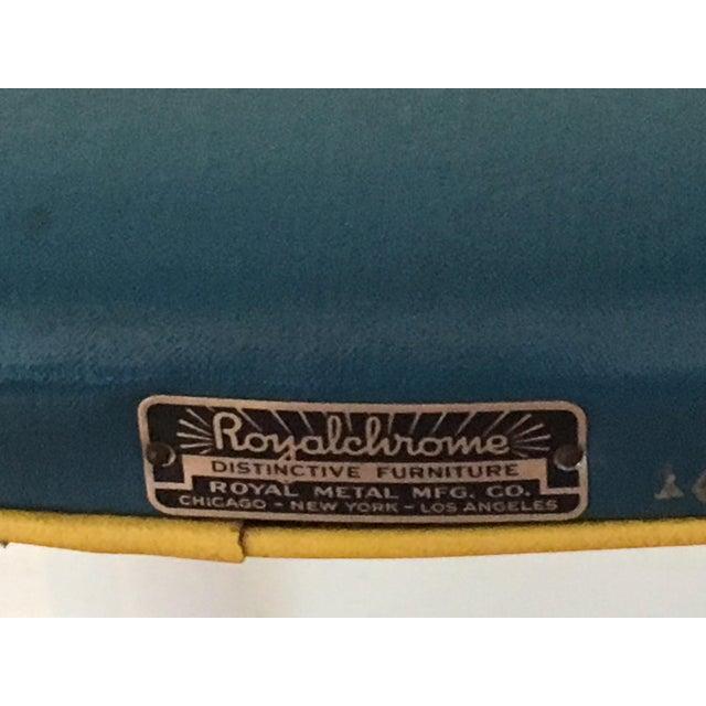 RoyalChrome Furniture Art Deco Dinette 3-Piece Set For Sale - Image 4 of 11