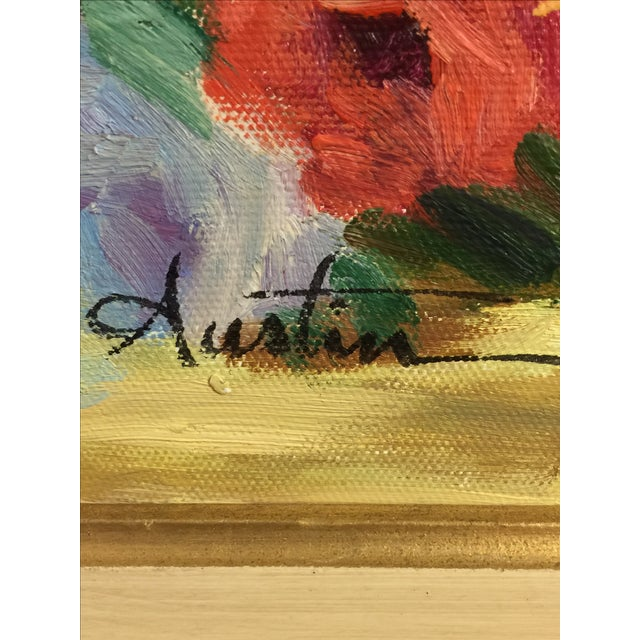 Oil on Canvas Floral Still Life Painting - Image 4 of 4