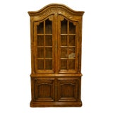 Image of Drexel Heritage Brittany Collection Country French Provincial China Cabinet For Sale