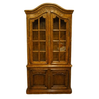 Drexel Heritage Brittany Collection Country French Provincial China Cabinet For Sale