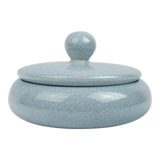 1960s Vintage Jaru of California Light Blue Ceramic Box For Sale