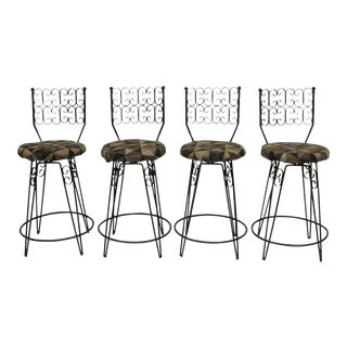 Arthur Umanoff Grenada Swivel Counter Bar Stools - Set of 4