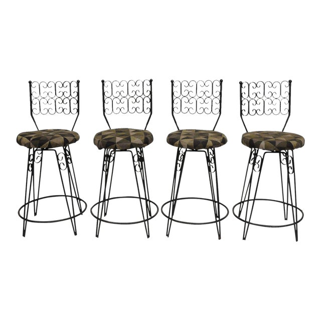 Arthur Umanoff Grenada Swivel Counter Bar Stools - Set of 4 For Sale