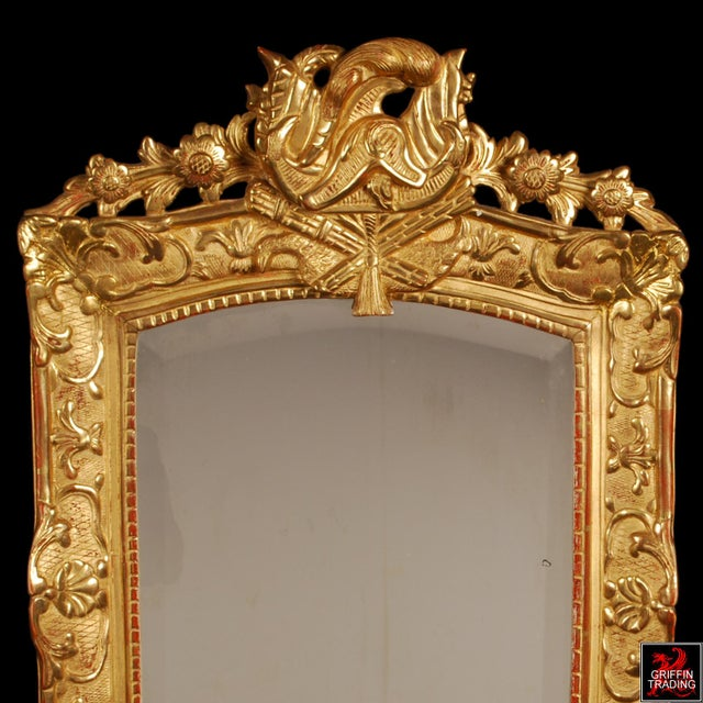 Superb French Regency Period Giltwood Wall Mirror For Sale - Image 4 of 12