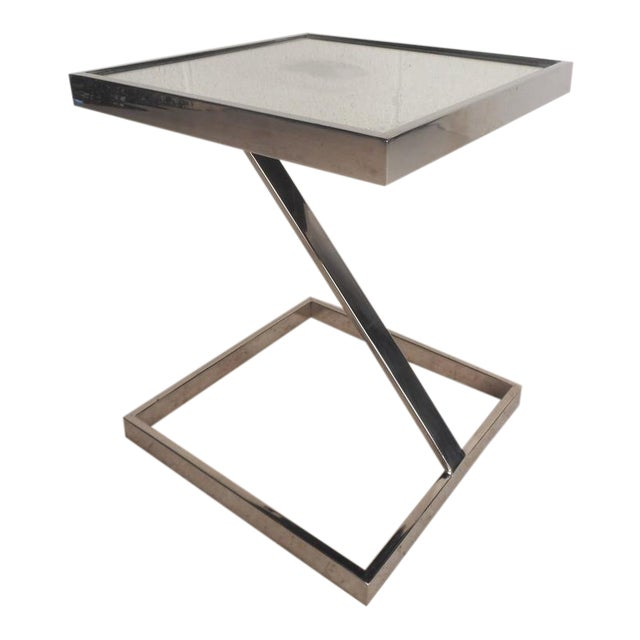 Mid-Century Modern Milo Baughman Style End Table - Image 1 of 7