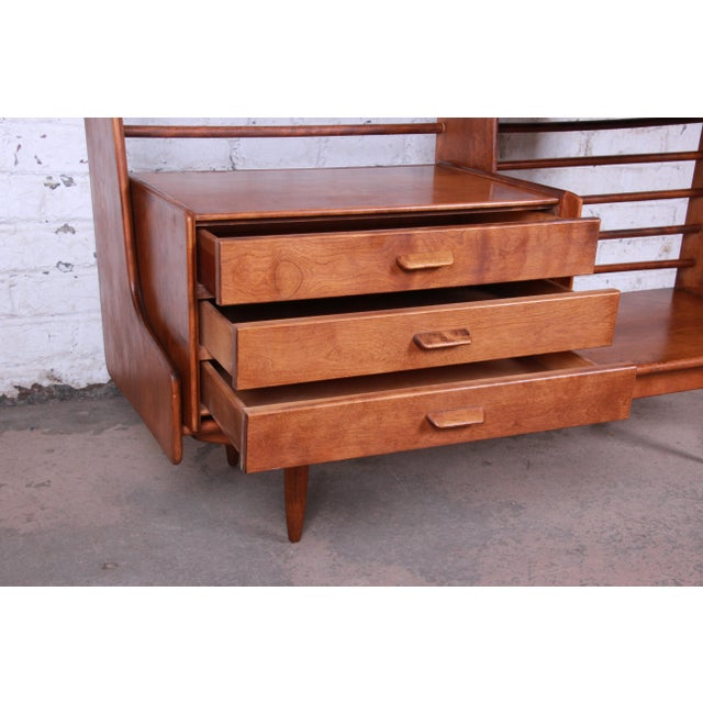 Leslie Diamond for Conant Ball Norsemates Room Divider or Wall Unit, 1950s For Sale In South Bend - Image 6 of 13