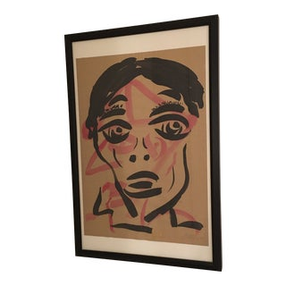 1964 Vintage Peter Keil Abstract Double Face Painting For Sale