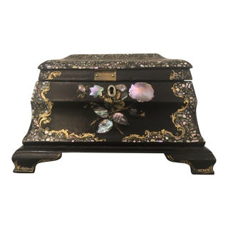 Appointed Antique Inkwell Box
