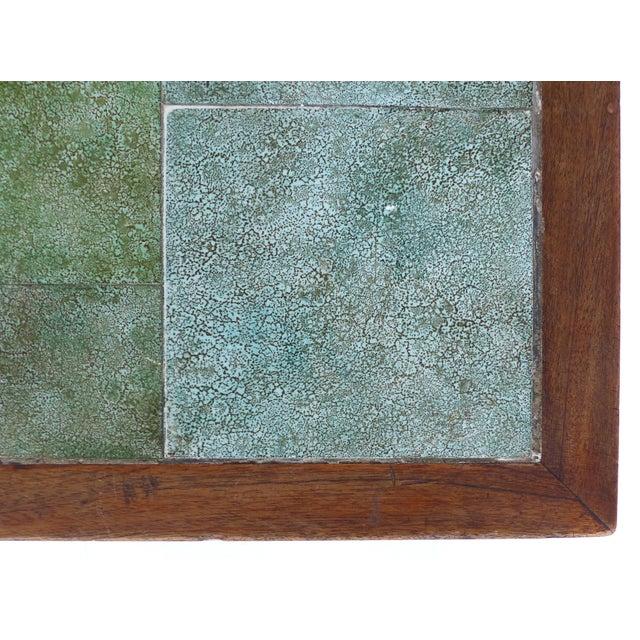 Green 1940 Vintage Johannes Meyer Tile Top Table For Sale - Image 8 of 11