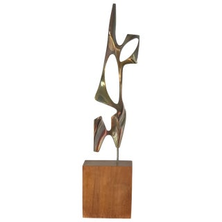 Modernist Bronze Abstract Sculpture by Bolte For Sale