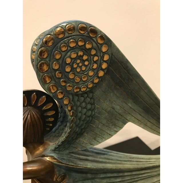 "1984 Erte Ltd Ed ""Angel"" Bronze Sculpture by Romain De Tirtoff For Sale - Image 10 of 13"