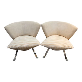 Pair of Jada Chairs Designed by Giorgio Saporiti for His Firm Il Loft