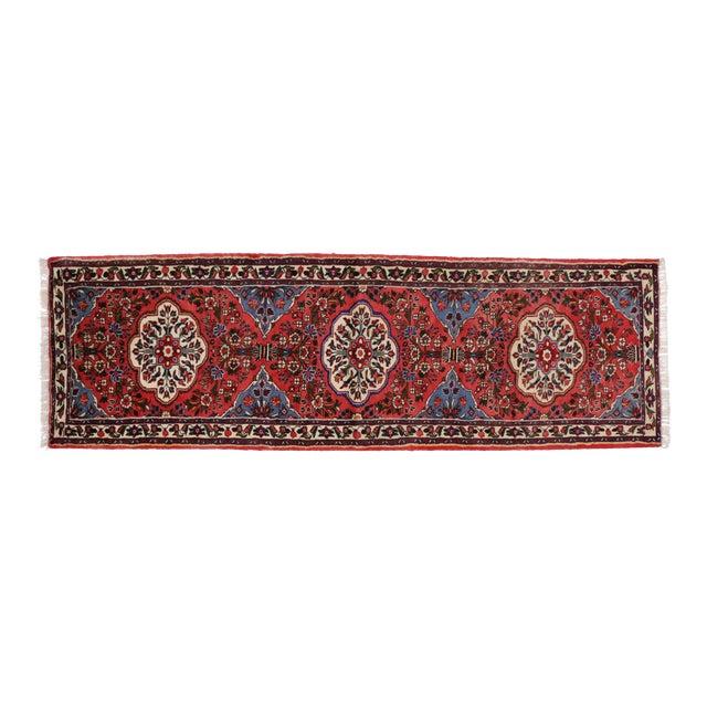 Persian Rudbar Floral Runner - 3' x 9'5 For Sale
