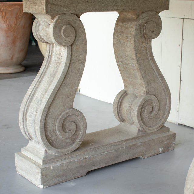Vintage Mid Century French Marble-Top Center Table For Sale - Image 9 of 12