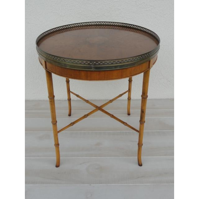 Metal 20th Century Chinoiserie Holland Salley Baker Furniture End Table For Sale - Image 7 of 13