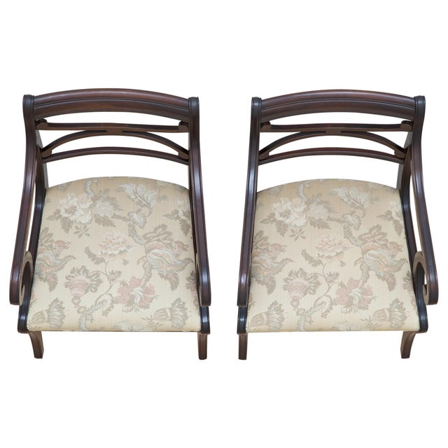 Regency Scrolled Armchairs - A Pair - Image 5 of 8