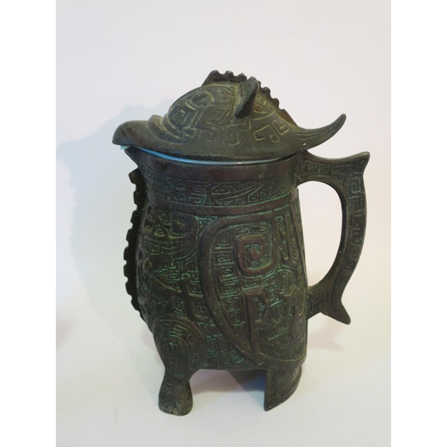 Mayan Motif Ice Bucket & Pitcher - A Pair - Image 5 of 9