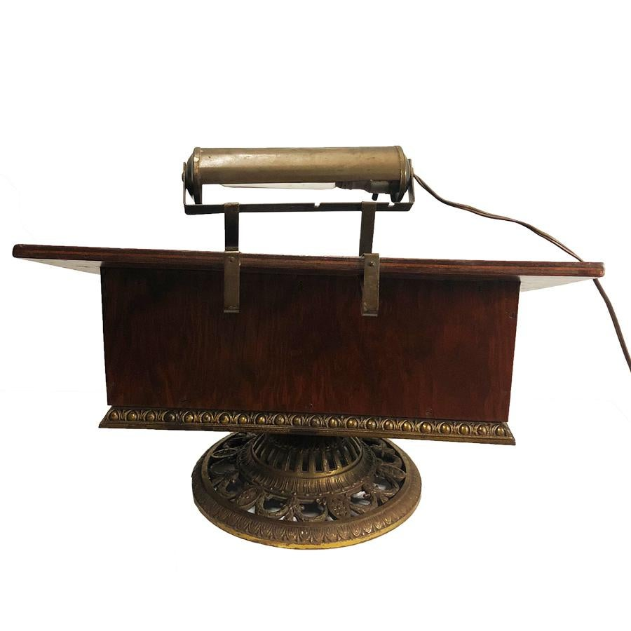 antique calligraphy portable lectern writing podium stand desk top w