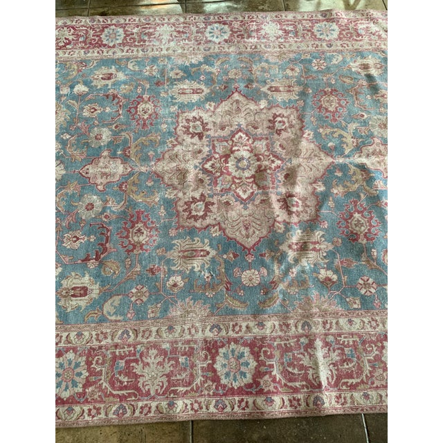 """Persian Tapriz Rug 1930s 10'8"""" X 7' 6"""" For Sale - Image 4 of 10"""