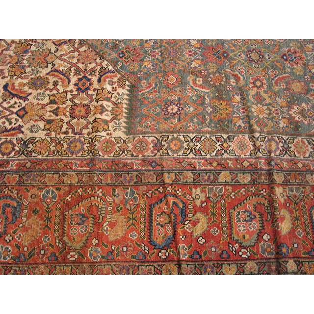 """Persian Antique Nw Persian Rug 6'10"""" X 17'0"""" For Sale - Image 3 of 8"""